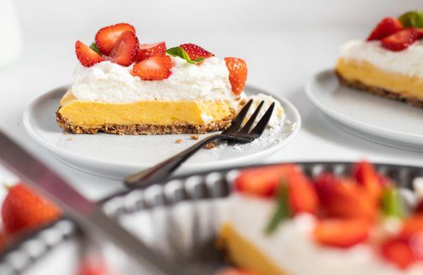 Svěží mangový dortík s pudinkem