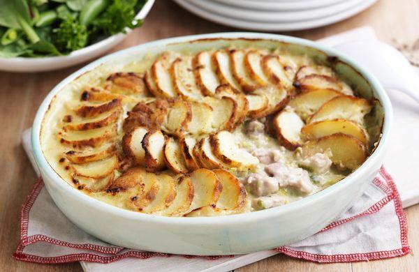 Kuřecí prsa a smetanové brambory - FIT recepty