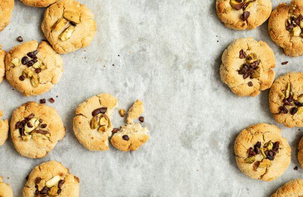 Zdravé sušenky jen z 5 ingrediencí. Značka: vegan, gluten free